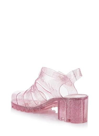 1240a196e2723 DeFacto Transparan Tokalı Sandalet Pembe DeFacto Transparan Tokalı Sandalet  Pembe